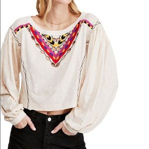 Free People OB993143 long sleeve top size S